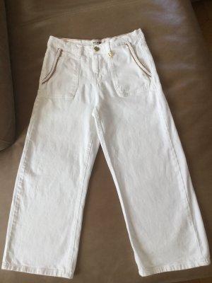 Mos Mosh Jeans a 3/4 bianco-cognac