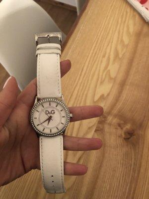 Dolce & Gabbana Montre avec bracelet en cuir blanc cuir