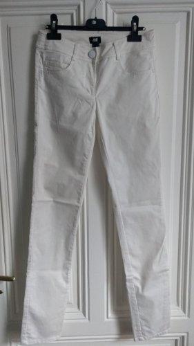 H&M Tube Jeans white