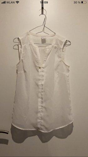 Vero Moda Transparentna bluzka biały