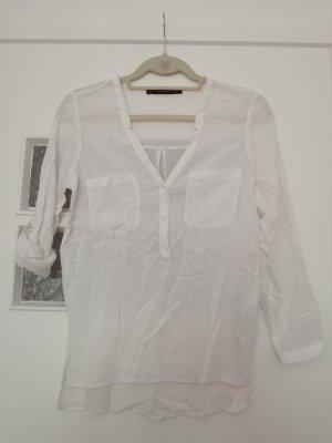 weiße durchsichtige Bluse von Zara Basic