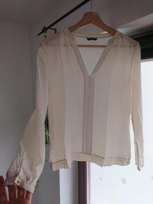Weiße Dursichtige Bluse