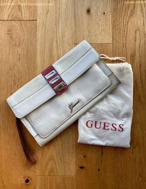 Weiße Envelope Clutch von Guess
