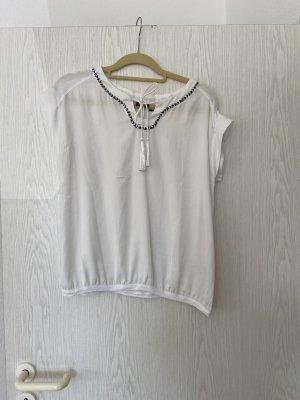 Weiße Esmara Kurzarm Bluse