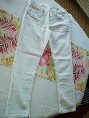 Weiße ESPRIT Capri Stretch Jeans Gr. 27W