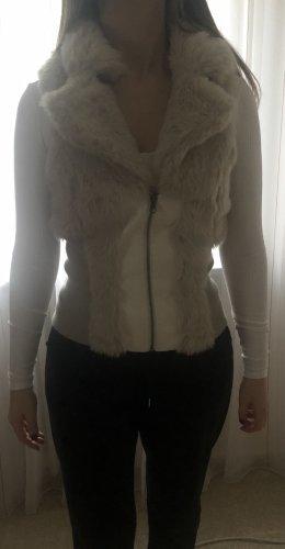 Madonna Smanicato di pelliccia bianco-crema