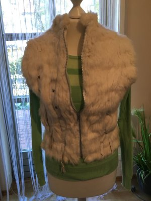 Fur vest natural white