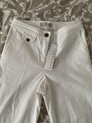 Stefanel Jeans flare blanc coton