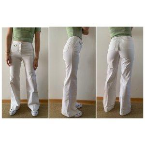 Stefanel Denim Flares white cotton