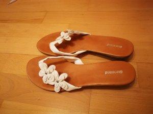 Graceland T-Strap Sandals white-silver-colored