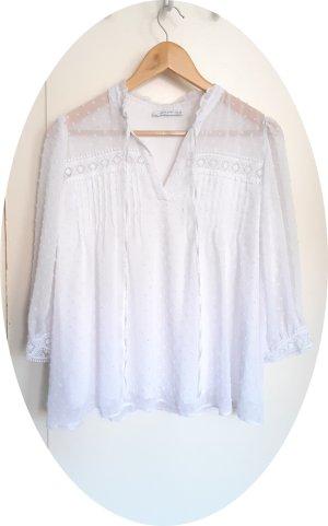 Weiße Folklore-Bluse von Reserved