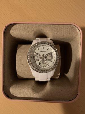 weiße Fossil Damen Uhr