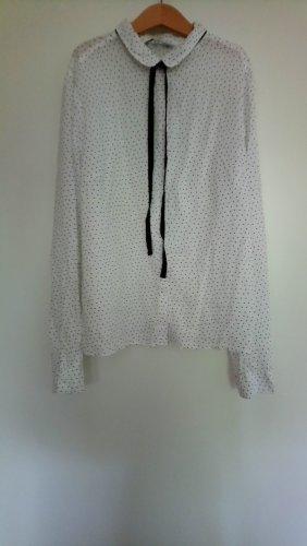 Weiße Gepunktete Bluse C&A 40
