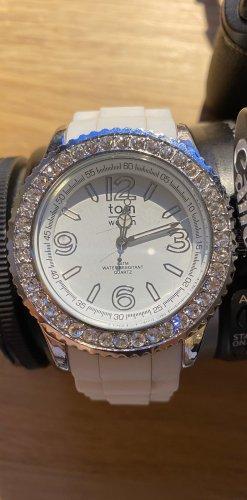 Weiße Glitzer Watch