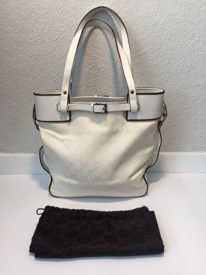 Weiße GUCCI Handtasche mit Guccissima-Monogramm