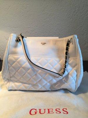 Weiße Guess Handtasche