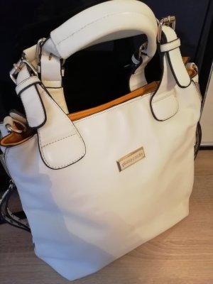 weiße Handtasche von Pierre Cardin