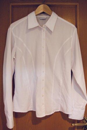 weiße Hemd-Bluse