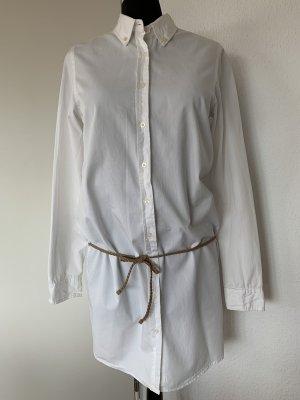 Scotch & Soda Camicia a maniche lunghe bianco-marrone chiaro Cotone
