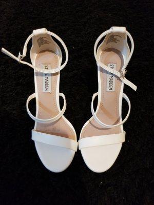 weiße High heels riemchensandalen