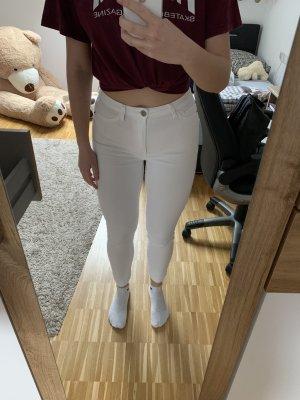 Weiße High-Waist Hose