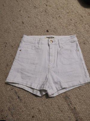 Weiße High Waist Hotpants
