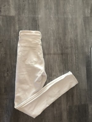 Asos Denim Hoge taille jeans wit