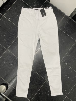 Weiße High Waist Jeans