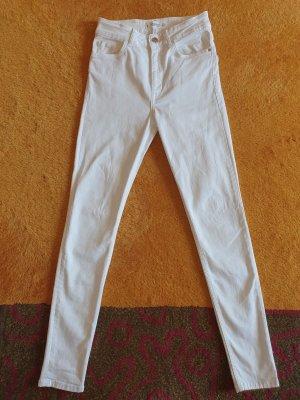 Weiße High Waist Jeans von Mango