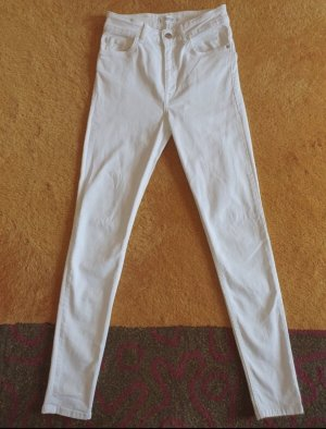 Weiße High Waist Jeans von Mango in Größe S / 36