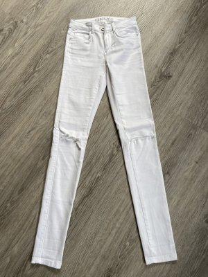 Only Pantalon taille haute blanc