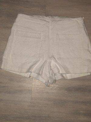 weiße Highwaist Hotpants