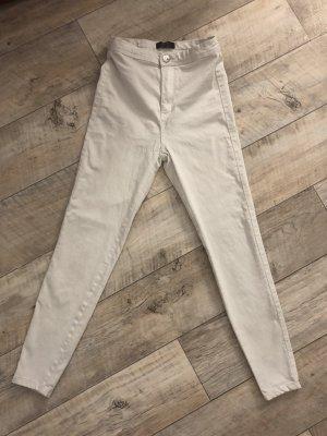 Weiße Highwaist Jeans aus bershka