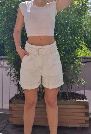 weiße Highwaist Jeans Shorts