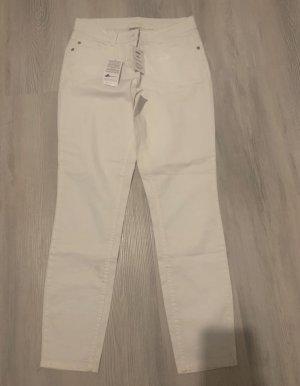 UpFashion Pantalone a sigaretta bianco
