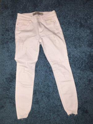 Primark Pantalón tipo suéter blanco