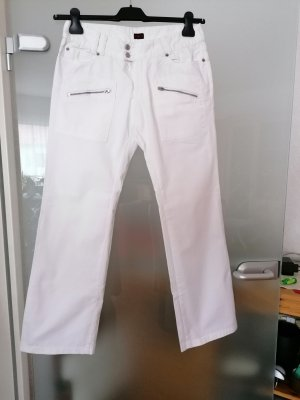 Big Star Low-Rise Trousers white