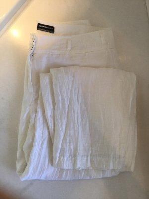 Frank Walder Pantalon en lin blanc