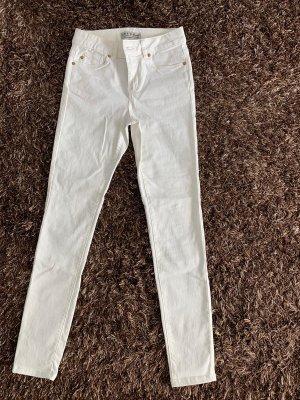 Primark Pantalon taille basse blanc cassé-crème