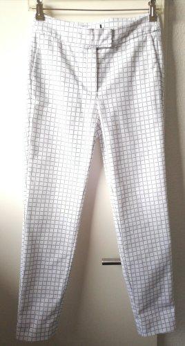 Pantalon taille basse blanc-bleu foncé