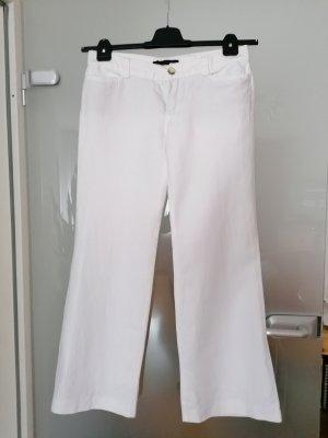 Oui Set Pantalón de campana blanco