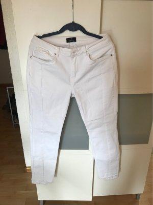 Monari Pantalone a sigaretta bianco
