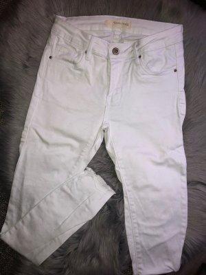 Weiße Hose Jeans Skinny S Knöchel