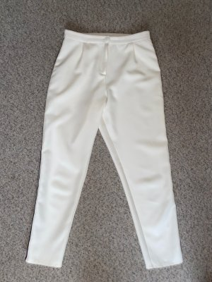 Weiße Hose mit 3 seitlichen Streifen