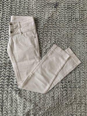 Weiße Hose mit Doppelbund von Embargo Gr. 28