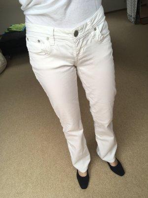 LTB JEANS pantalón de cintura baja blanco