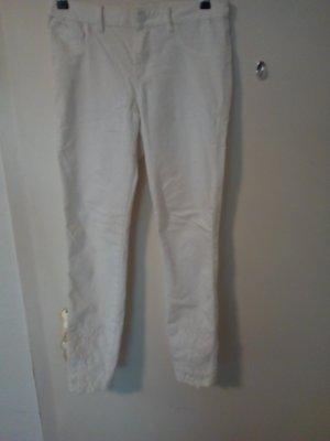 Vila Woolen Trousers natural white