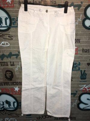 okay Pantalon cargo blanc