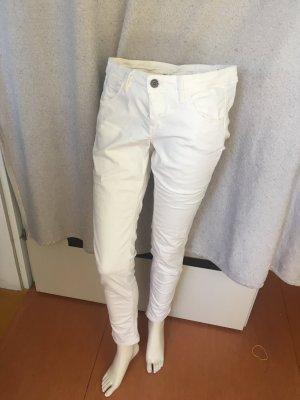 Benetton Jeans Spodnie biodrówki biały