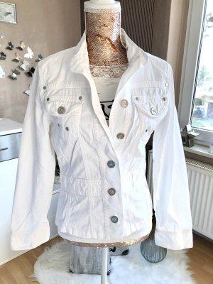 Chaqueta estilo camisa blanco